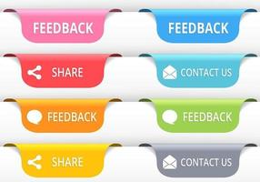 Feedback Tab Button Vectors