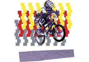 USA BMX Biker Vector - The Flea