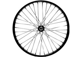 USA BMX Front Wheel Vector