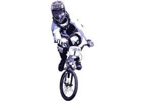 USA BMX Biker Vector Kiwi-Racer