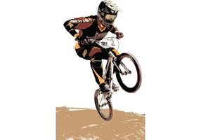 USA BMX Vector Redman Rider