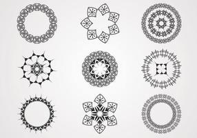Cirkulär spiral vektor pack