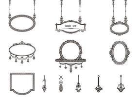 Marcos decorativos vintage vectores