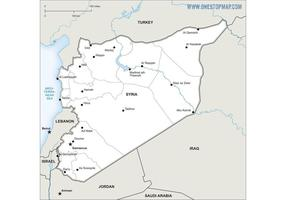 Free Vector Map of Syria