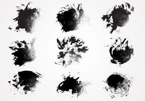 Inkt Verf Textuur Vector Pack