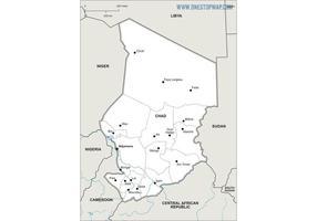 Mapa vectorial libre de Chad