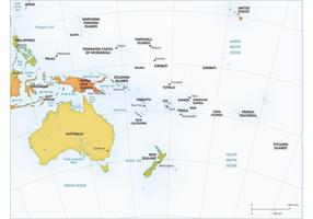 Free Vector Map of Australia