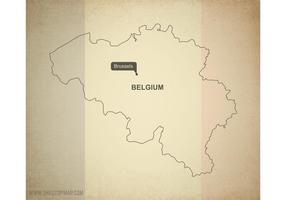Gratis Vector Karta över Belgien