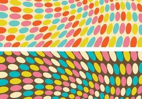 Funky Retro Geometric Background Vectors