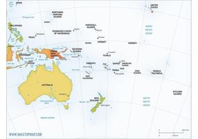 Free Vector Map of Australia Continent