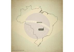Gratis Vector Kaart van Brazilië