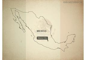 Free Vector Map of Mexico
