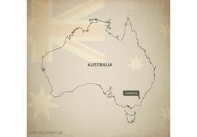 Gratis Vector Kaart van Australië