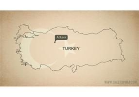 Free Vector Map of Turkey