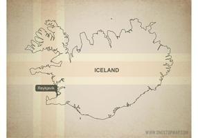 Gratis Vector Kaart van IJsland