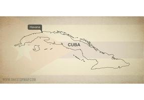 Free Vector Map of Cuba