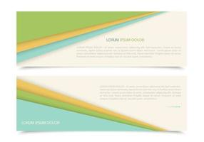 Layered Papers Banners Vectors