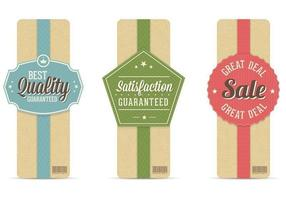 Retro Sale Banner Vector Set