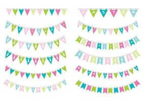 Spring Easter Bunting Vector Pack