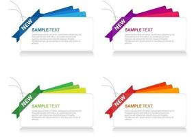 Bright Layered Banner Vector Set