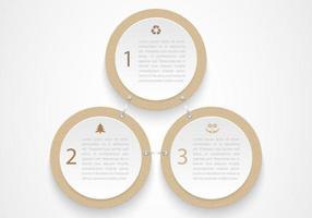 Cardboard Circles Vector