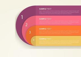 Funky Retro Infografischer Hintergrund Vektor