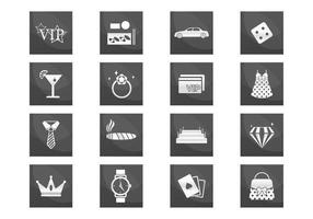 VIP Luxury Icons Vector Set
