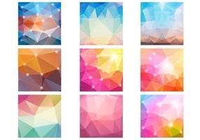 Abstract Diamond Bokeh Patterns Vector