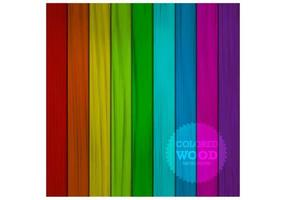 Colored Wood Background Vector