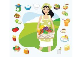 Comida campestre del verano