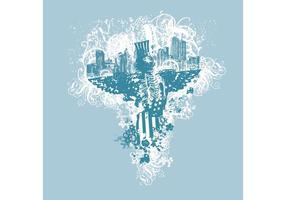 EE.UU. Eagle Grunge urbano