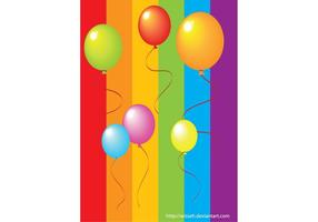 Balões coloridos realistas