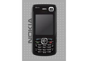Téléphone mobile nokia vecteur