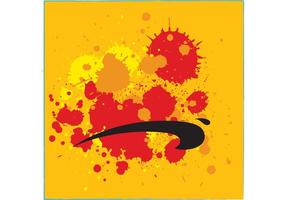 Salpicaduras de pintura de grunge