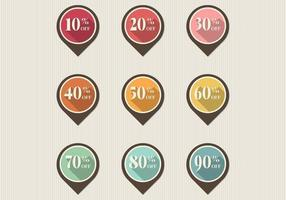 Retro Discount Pointer Tag Vector Pack