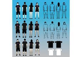 T-shirt sjablonen