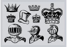 Helme und Kronen