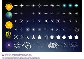 Sol estrelas lua