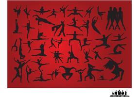 Menschen Tanzen Silhouetten