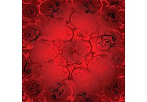 Red Floral Ornaments