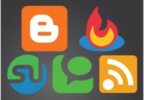 Logos für soziales Netzwerk