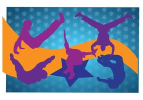 Breakdancing Silhouettes