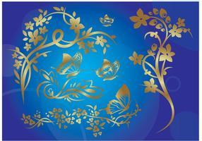 Gold Nature Illustration