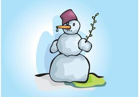 Snowman Winter Scene Illustration