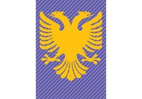 Albania flagga dubbelhöjd örn