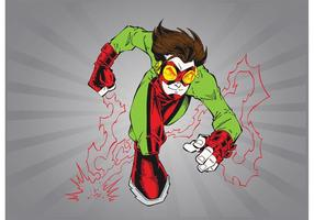 Dessin animé de super-héros