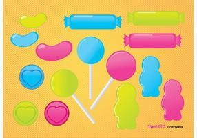 Lollipop dulces de caramelo