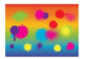 Pintura de aerosol colorida