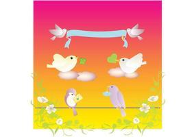 Fåglar Kärlek