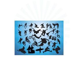 Aktion Sport-Vektoren